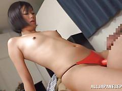 Girl with strap-on fucks her boyfriend