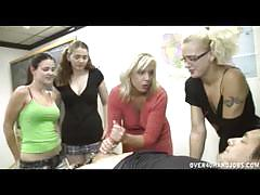 Mature blondie teaching horny teens hot handjob