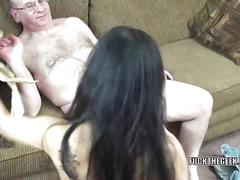 Exotic milf naomi shah is blowing a lucky geek