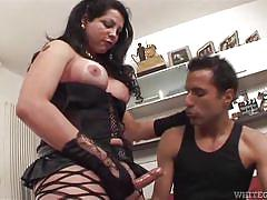 Flavia puts her big dick in her man's ass @ mexican shemales #06