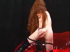 Sexy skinny redhead heather fetish style masturbation