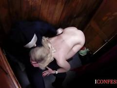 Confessionfiles: blonde sucks priests dick