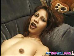 Petite exotic girl blows a tiny dick on the camera