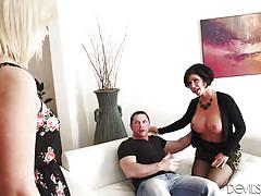 Shay and cindy team up for a blowjob @ wanna fuck my daughter gotta fuck me first #22
