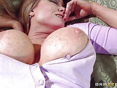 blonde, massage, mature, mommy, busty, tattooed, seducing, boobs groping, mommy got boobs, brazzers network, darla crane, johnny sins