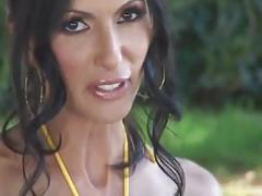 Milf latina catalina plays with a dildo in a hot tub