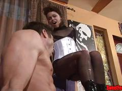 pantyhose, femdom, cbt, knee, squeeze, kick, ballbusting, stomp, emasculation, emasculate