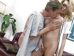 Tranny cures her ailing patient @ transsexual nurses #13