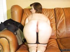 Big boob teen on casting couch fingering her pussy
