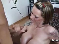 German mom fucks young boy from neighbourhood