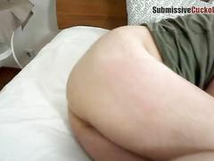 Wife dominates cuckold husband