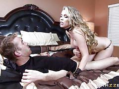 Crazy blonde bitch gives a titty fuck