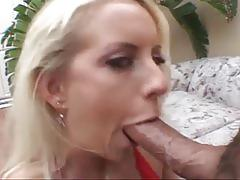 Sexy blonde bitch get massive cum on face
