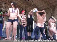 Hot girls getting buck fucking naked at the abate of iowa biker rally this year