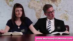 Young amateur mormon guy fingers girlfriend in public