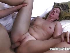 Horny masturbating stepson caught and fucked by stepmom