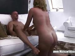 Horny masturbating stepson caught and fucked by stepmom