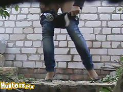 Sneaky spy cam caught beautiful girls pissing