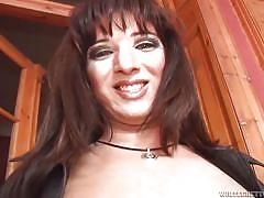 She pulls out her uncircumcised cock @ my dad's a transsexual #07