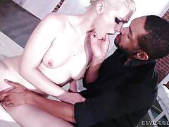 small tits, handjob, interracial, blowjob, fingering, pussy eating, black and white, blonde babe, bbc, evil angel, ella nova, mickey mod