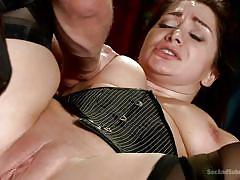 Lea gets bonded, banged and mouth fucked