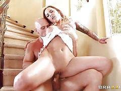 milf, tattoo, blonde, big tits, cheating, pussy licking, cock riding, boobs groping, on stairs, real wife stories, brazzers network, johnny sins, alexia vosse