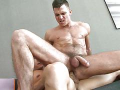 hairy, from behind, muscled, ass fucking, gay anal, gay, top to bottom, men.com, topher di maggio, paddy o'brian