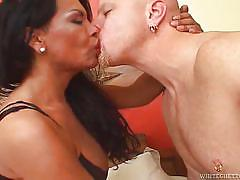 Tranny babe gets her cock sucked @ my dad's a transsexual #07