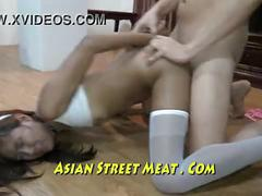 Street waif on hot offer in asian slum