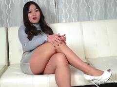 Asian goddess laughs at micropenis