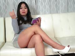 Asian goddess laughs at micropenis