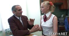 Teacher cant resist his skinny blonde pupil no matter the consequences