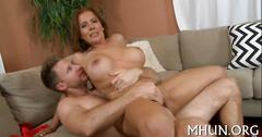 Hard hammering makes milf cum