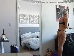 Mature blonde milf mom mum naked - hacked ip camera