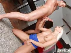 Ass traffic rough anal sex for sexy blonde jessie volt