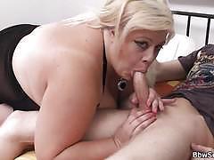 Blonde bbw slut gets banged deep and hard