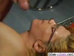Smoking hot mature gets fucked in leather