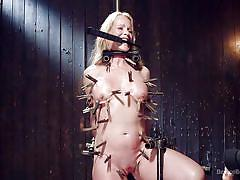 Sexy simone gets awfully restrained
