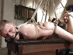 Derek gets tied up and gagged