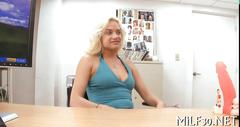 Hot youthful milf comes in for a casting