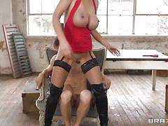 milf, blonde, masturbation, stockings, squirting, big butt, cock sucking, big breasts, latex boots, she's gonna squirt, brazzers network, danny d, leigh darby