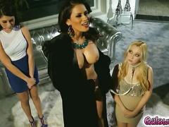 lesbian, milf, blonde, big boobs, busty, more