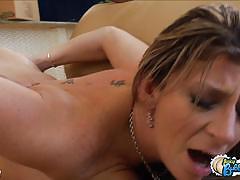 Curvy blonde milf sara jay rides a hard cock
