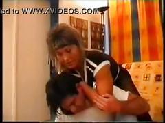 Female bodybuilder wrestling thief