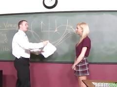 Teen with braces kaley hilton fucked hard by her teacher