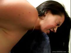 Leah stevenson eats cum after anal sex