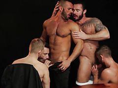 kissing, tattooed, gays, undressing, muscled, jizz, pov, gay blowjob, gay group sex, jizz orgy, men, denis vega, jessy ares, malek tobias, nick north, flex