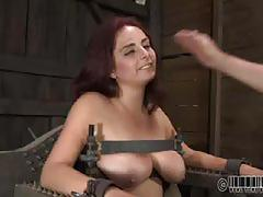 Ashley takes titty torment
