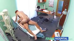 Fakehospital sexy redhead will do anything for a sick note to get off work