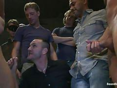 tattoo, bdsm, deepthroat, humiliation, gays, public disgrace, gay blowjob, gay group sex, bondage cage, bound in public, kink men, dominic pacifico, spencer reed